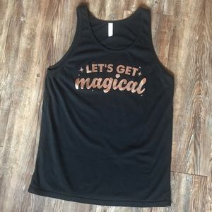 """""""Let's Get Magical"""" Rose Gold and Black Tank Top"""